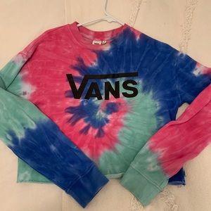 Vans Tie Dye Cropped Sweatshirt